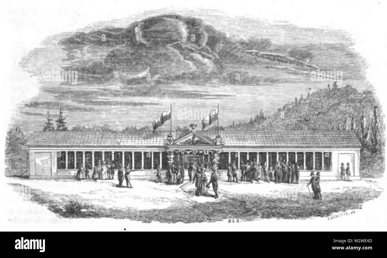 Illustrirte Zeitung (1843) 03 011 1 Die Festhalle in Schul-Pforta Stock Photo