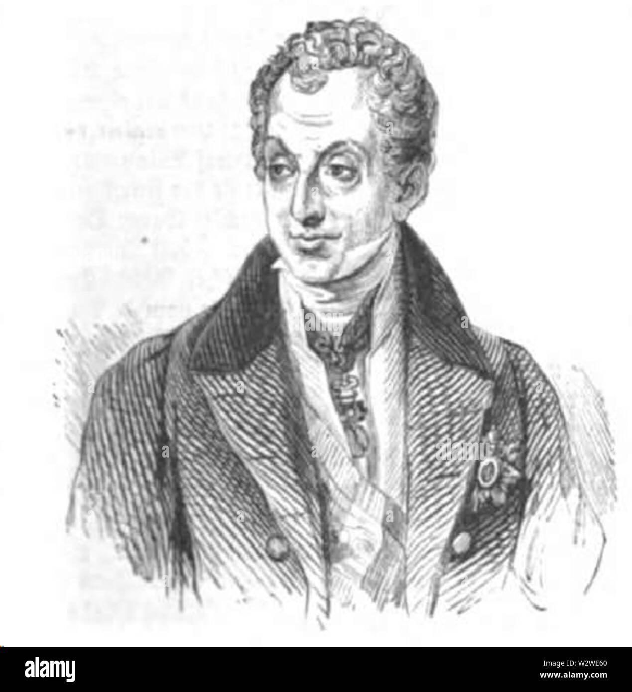 Illustrirte Zeitung (1843) 05 001 1 Fürst Metternich - Stock Image