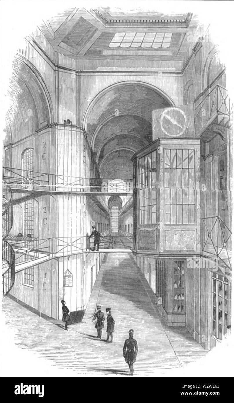 Illustrirte Zeitung (1843) 05 005 1 Große Mittelhalle - Stock Image