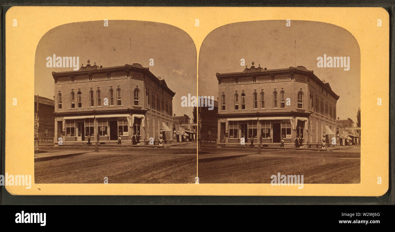 John Graham's Store, Portage, Wis, from Robert N Dennis collection of stereoscopic views - Stock Image