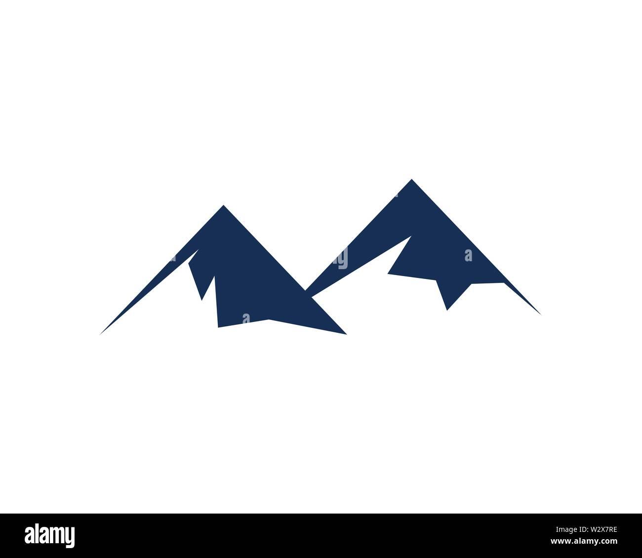 Mountain icon Logo Template Vector illustration design - Stock Image