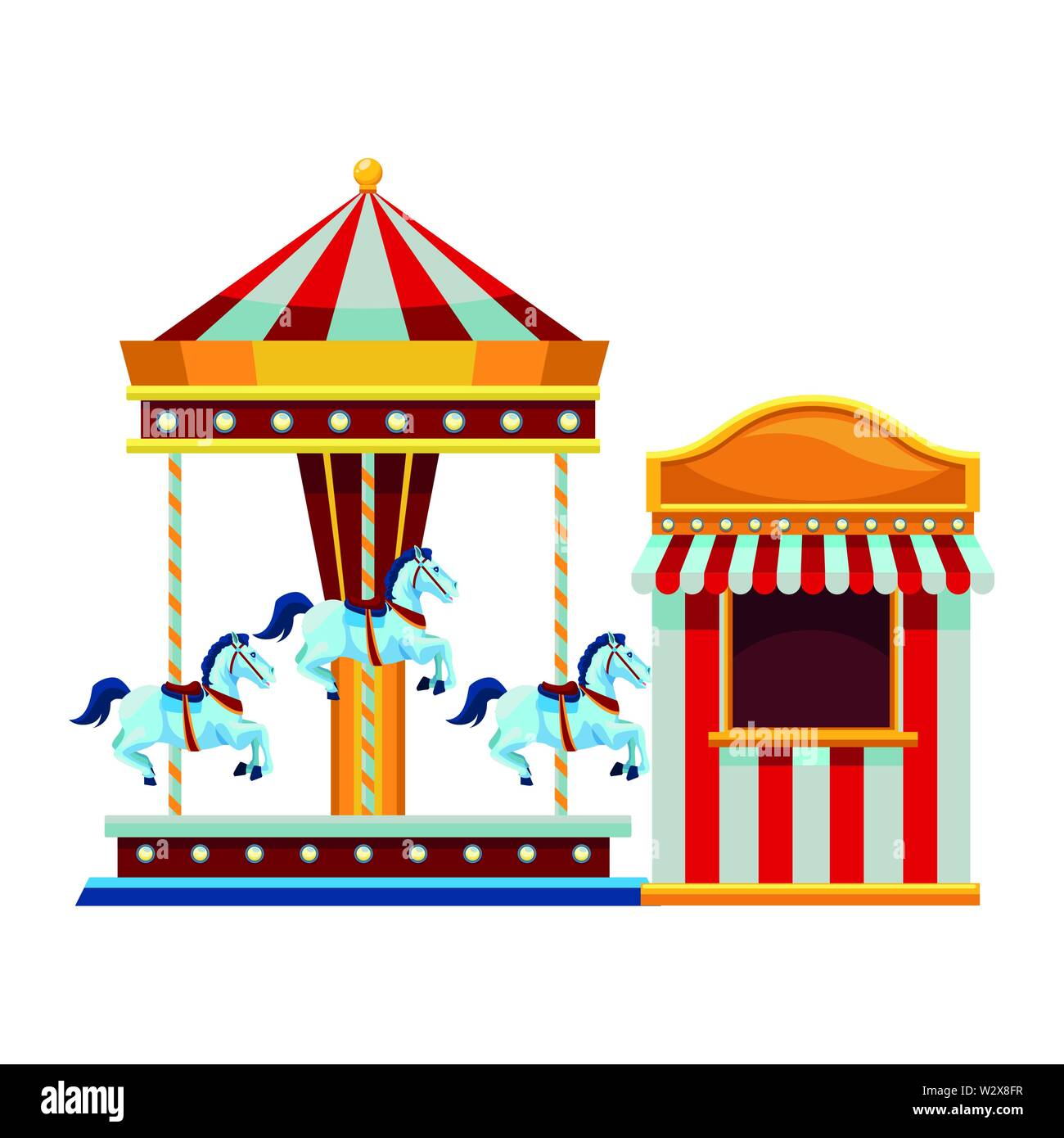 Carousel Clipart File - Fun Fair Ride Cartoon - Png Download (#1990149) -  PinClipart