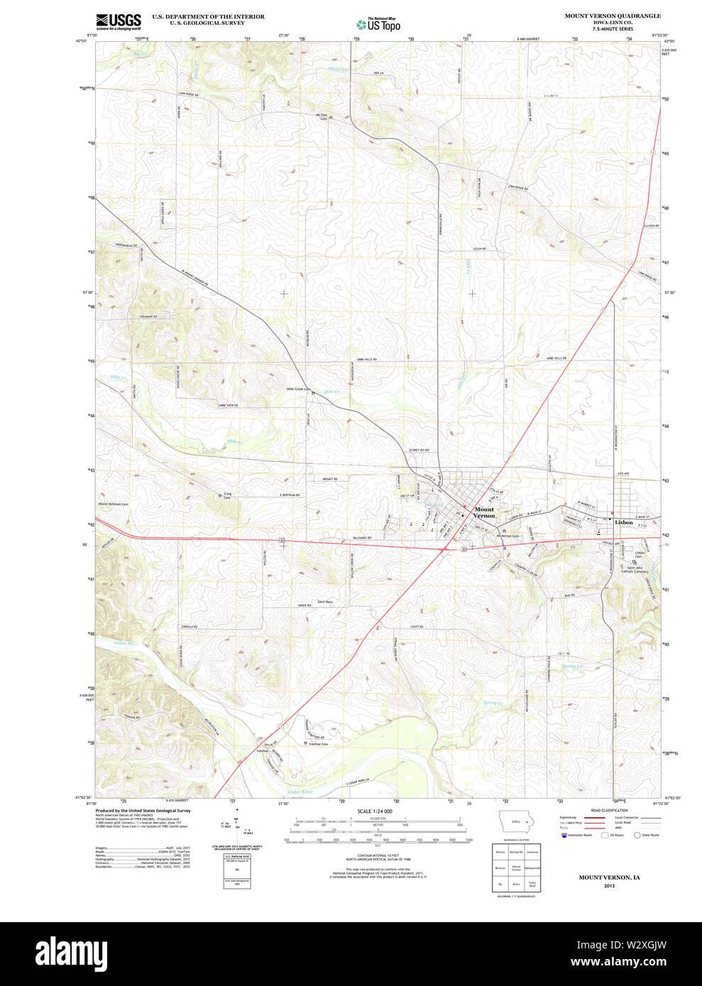 mount vernon iowa map Usgs Topo Maps Iowa Ia Mount Vernon 20130425 Tm Restoration Stock mount vernon iowa map