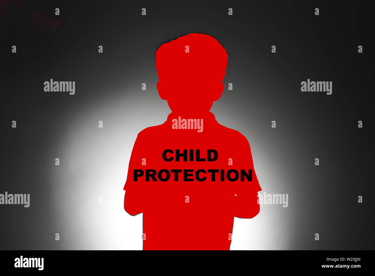 protecting children at risk of abuse Stock Photo