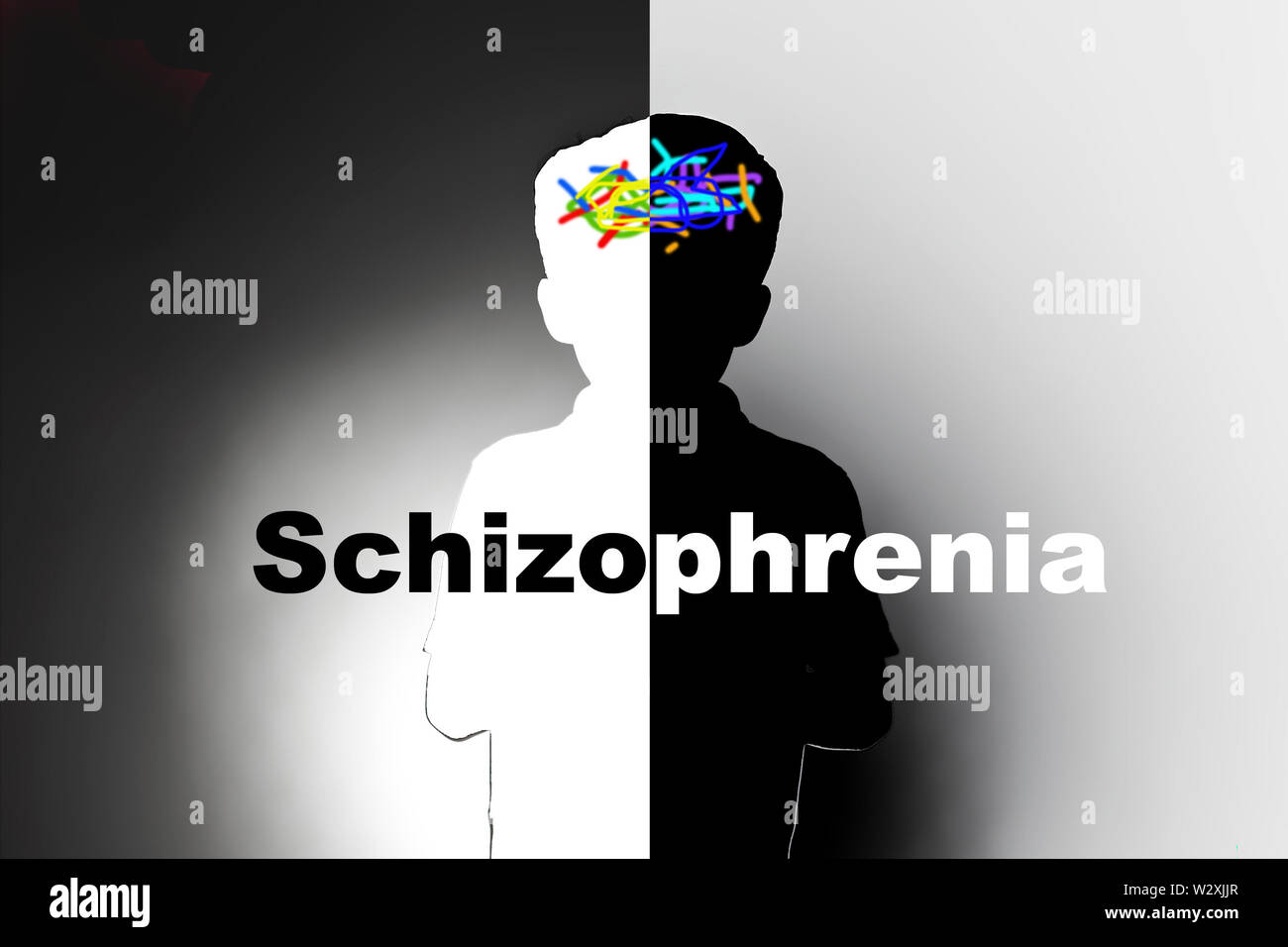 childhood mental health, schizophrenia Stock Photo