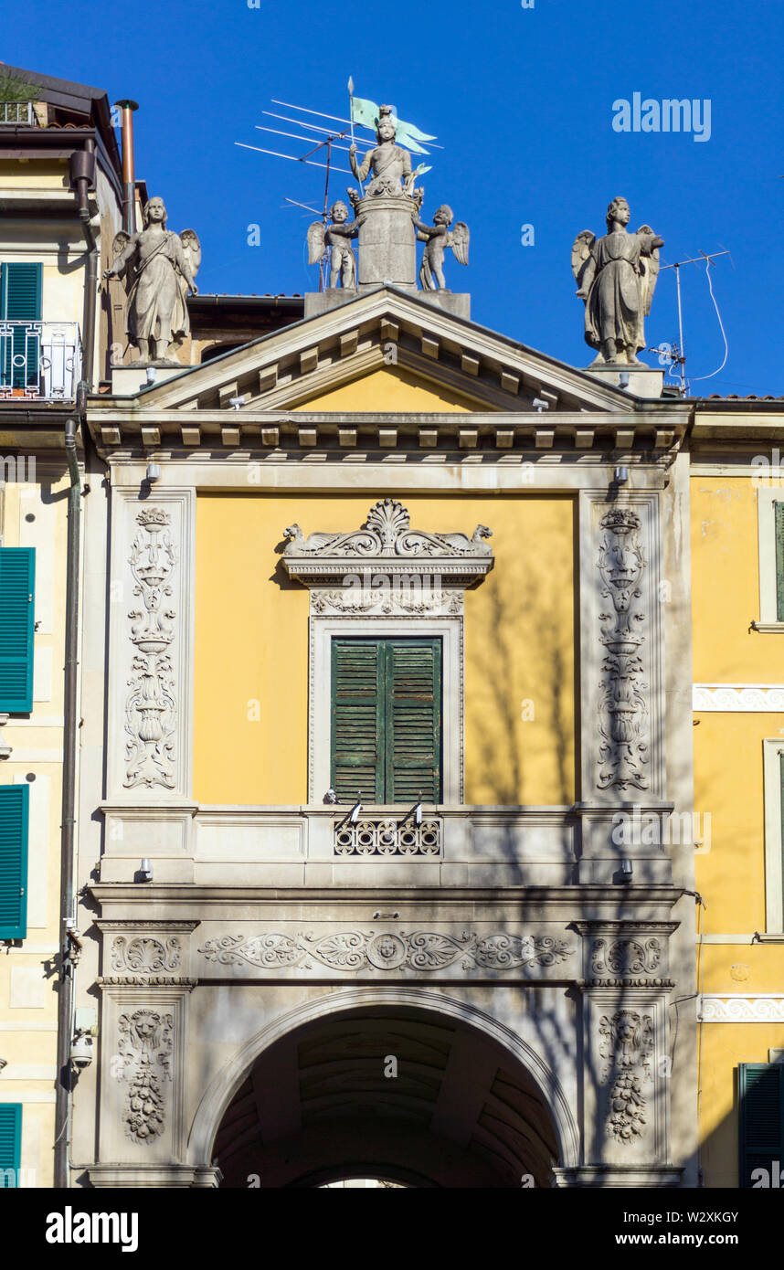 Italy, Lombardy, Varese, Piazza del Podestà, Arco Mera Stock Photo