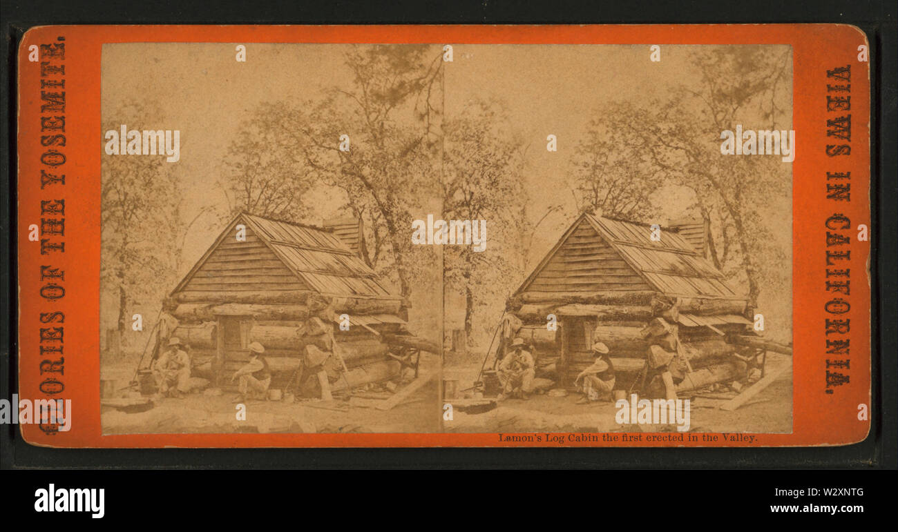 Lamon's Log Cabin, the first erected in the Valley,, by E & HT Anthony (Firm) - Stock Image