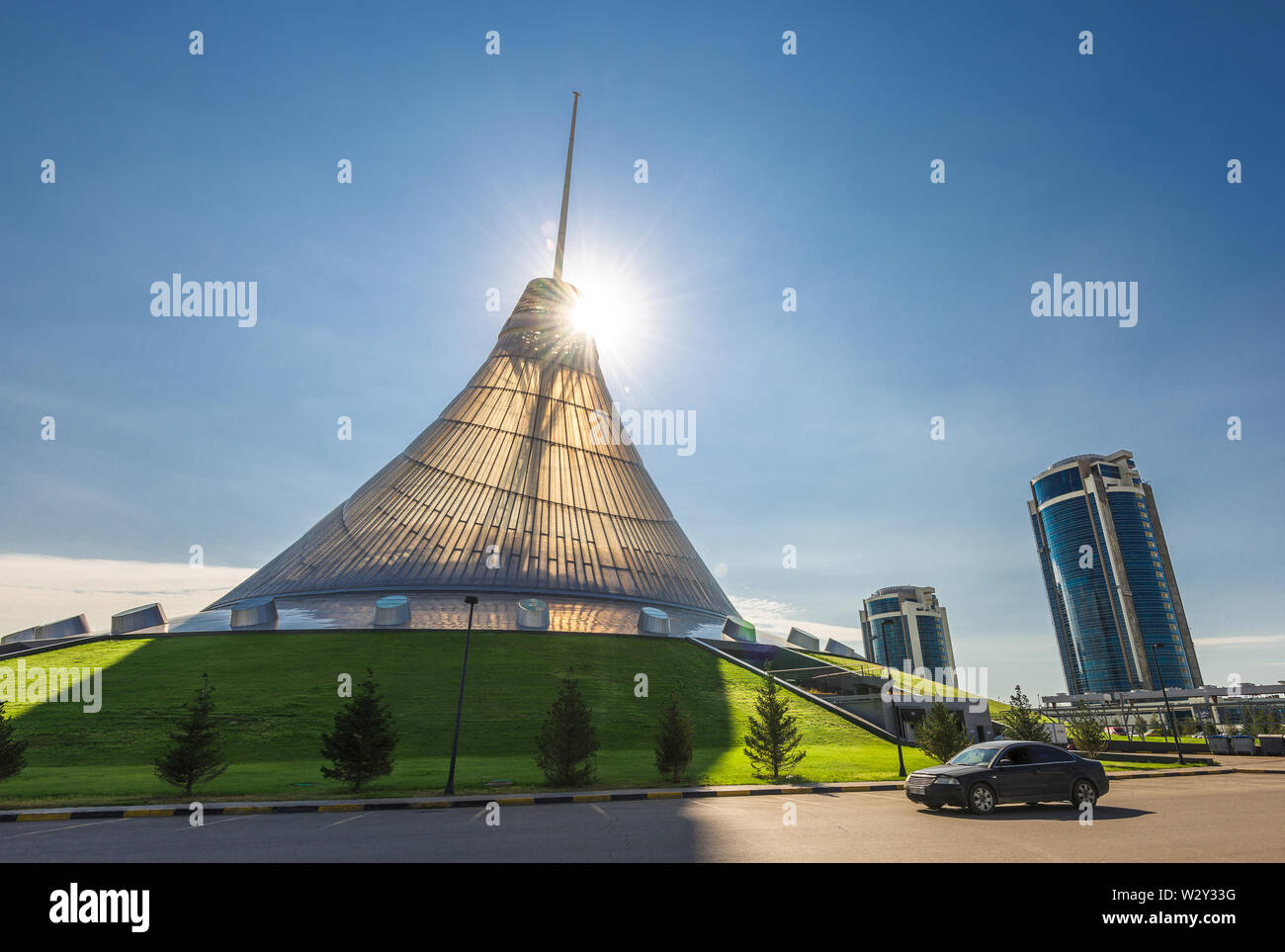 Shopping and entertainment center Khan-Shatyr (Astana, Kazakhstan) Stock Photo
