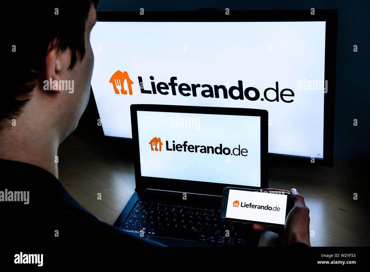Logo Lieferando.de Stock Photo