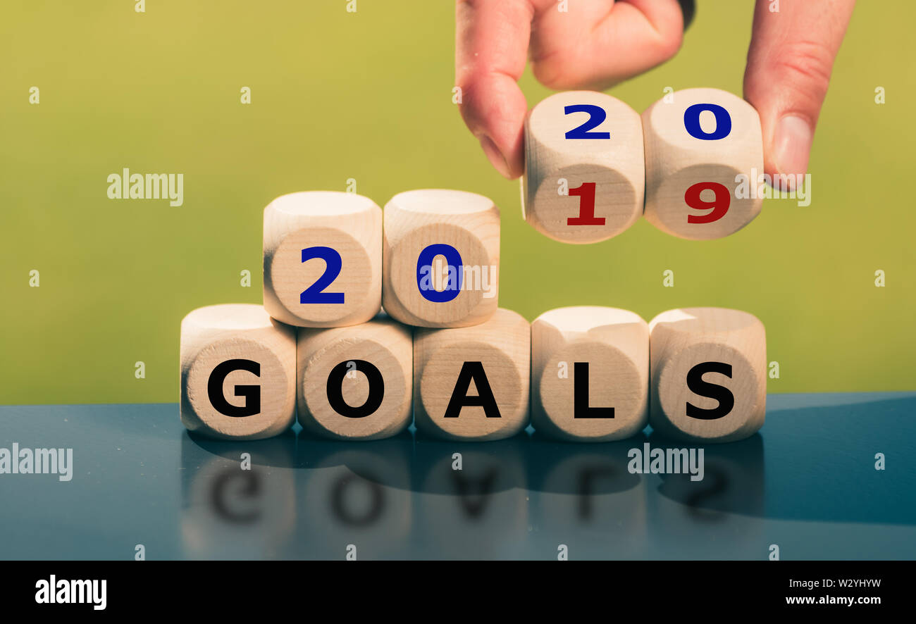 Goals for the year 2020. - Stock Image