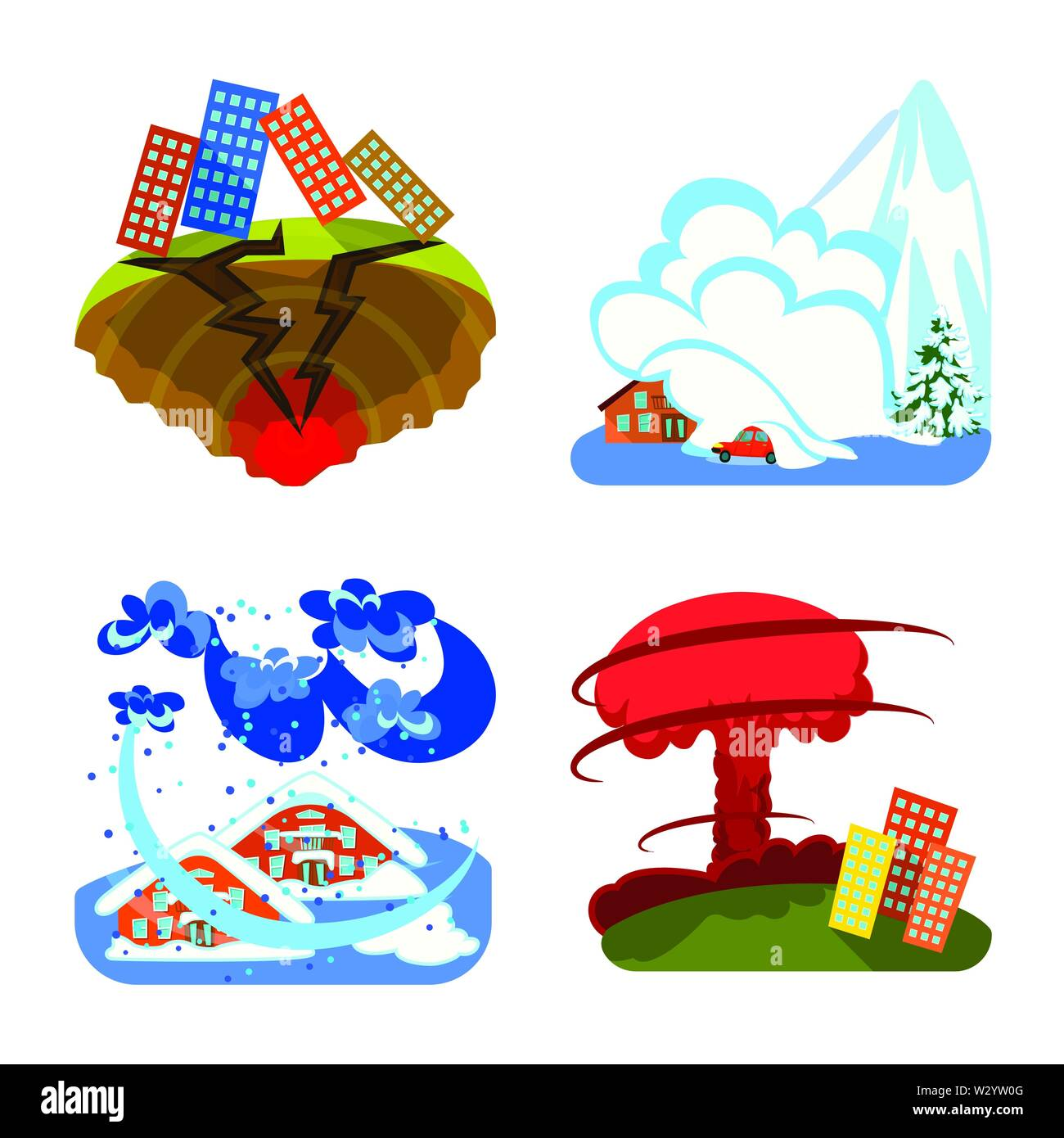 Vector design of cataclysm and disaster logo. Set of cataclysm and apocalypse  stock vector illustration. - Stock Image