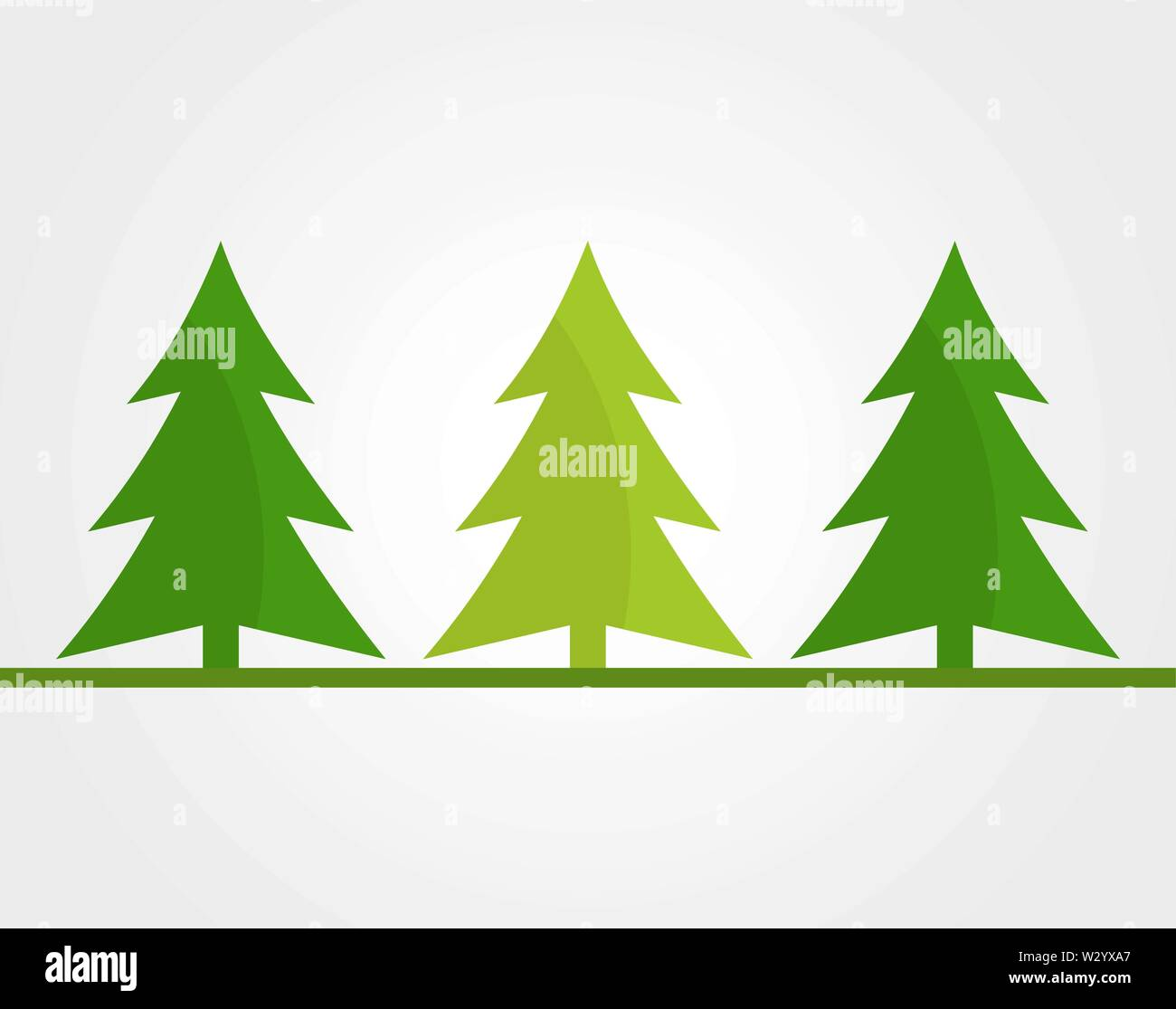 Christmas trees background. Vector illustration. - Stock Image