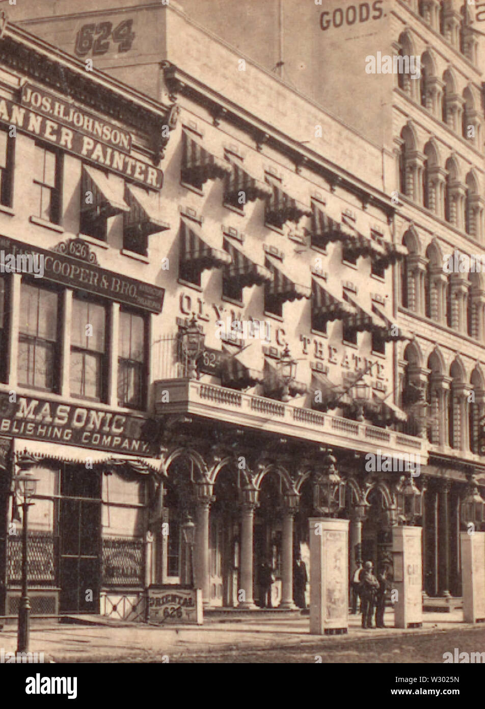Olympic Theatre, 624 Broadway, New York (demolished) - Stock Image