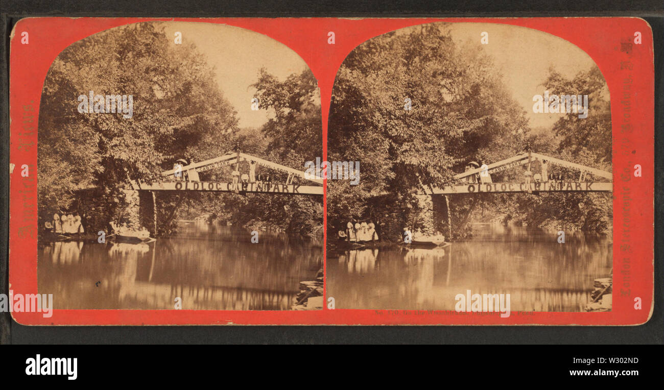 On the Wissahickon, Philadelphia, Penn (Old Log Cabin Park), from Robert N Dennis collection of stereoscopic views - Stock Image