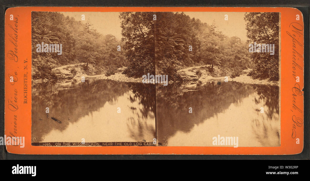 On the Wissahickon, near the Old Log Cabin, from Robert N Dennis collection of stereoscopic views 2 - Stock Image