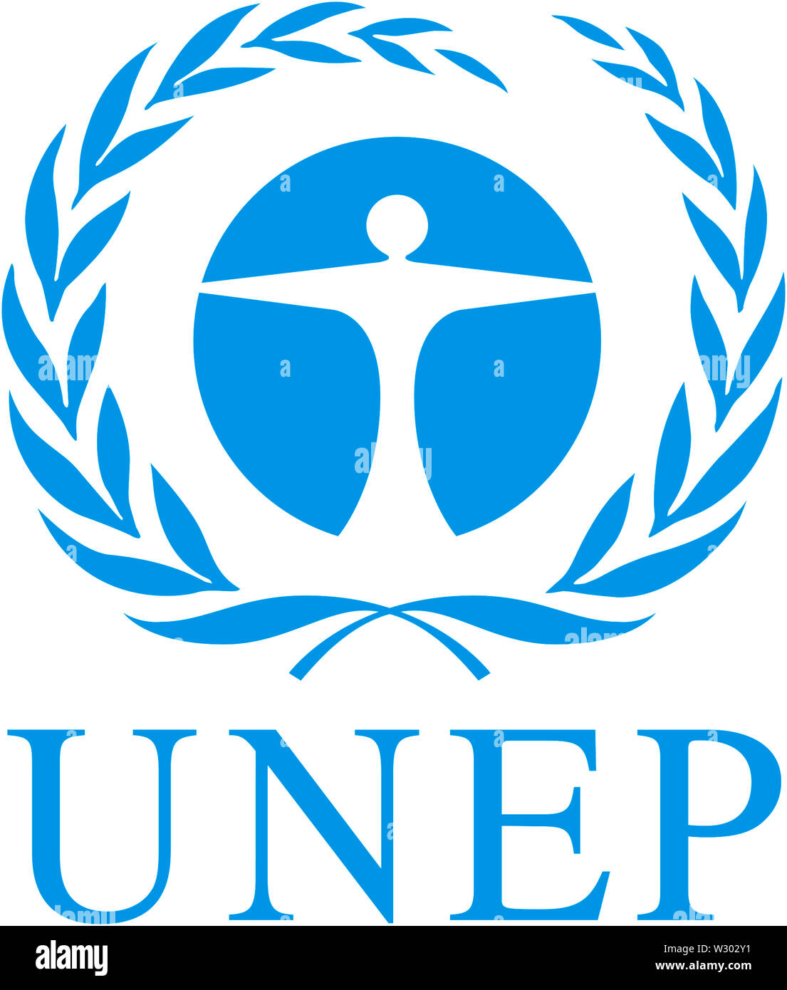 Logo of United Nations Environment Programme UNEP with seat in Nairobi. - Stock Image