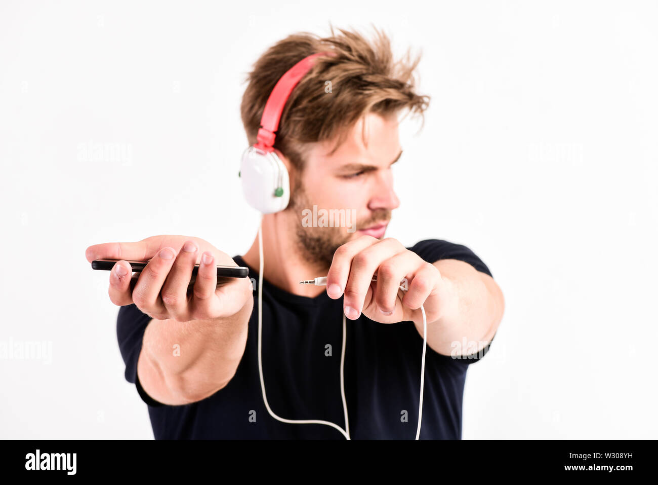 Pop music  Mp3 player concept Enjoy sound headphones  Music