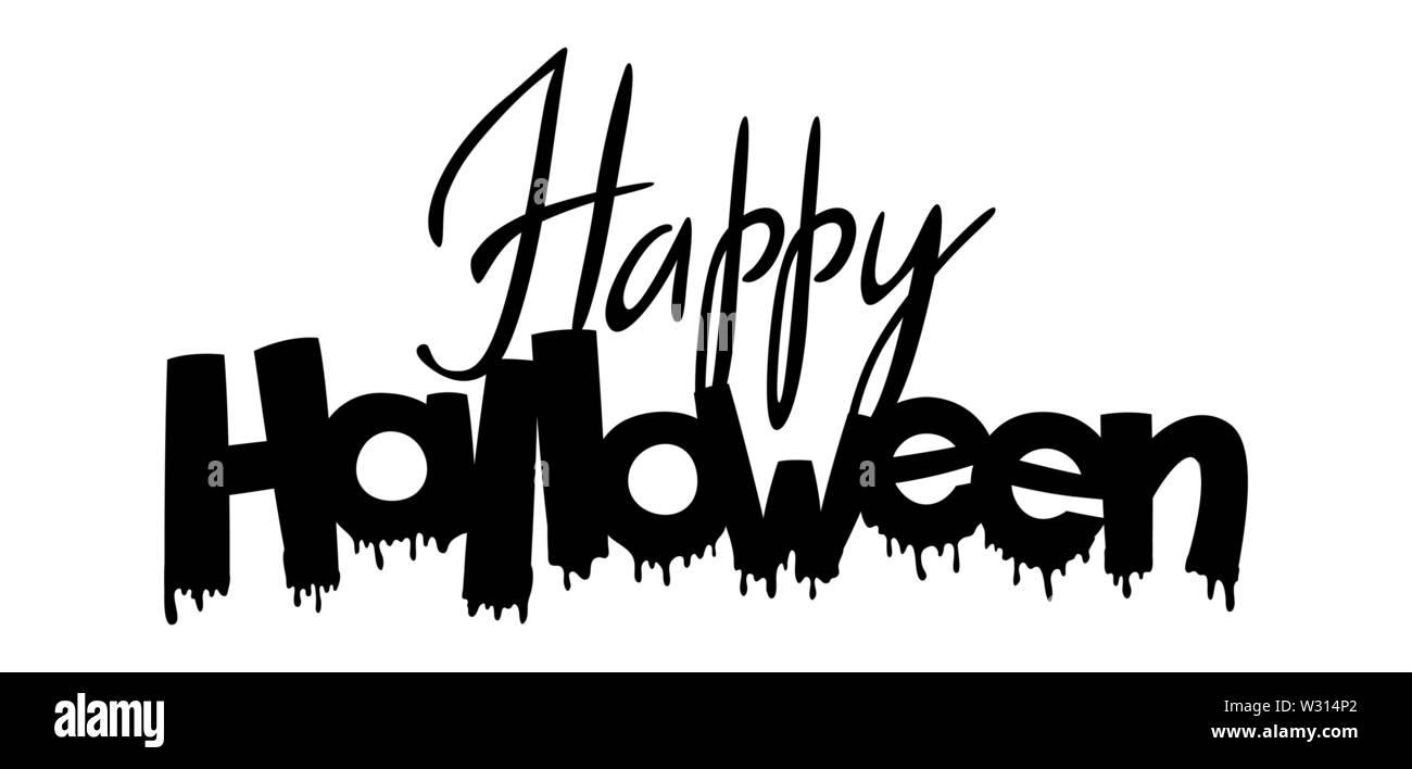 Happy Halloween Lettering Stock Vector Image Art Alamy