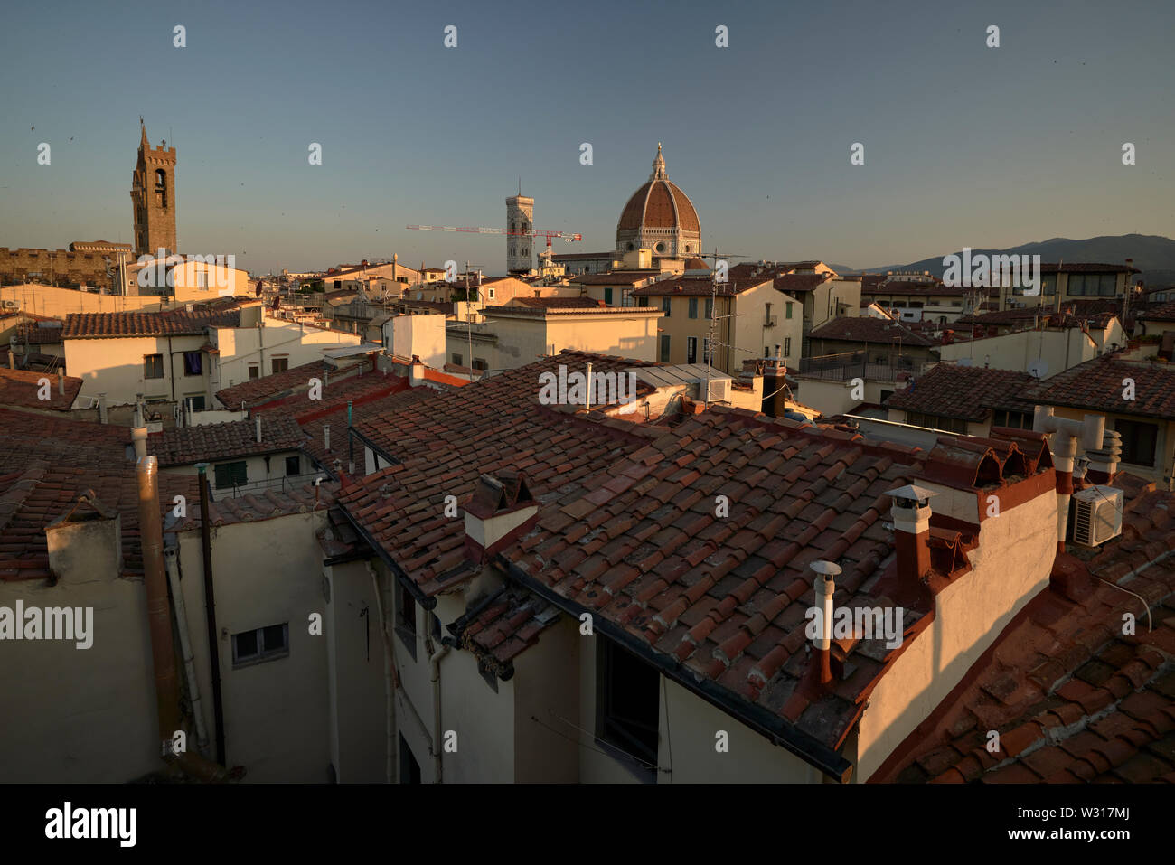 View Over The Rooftops Of Florence Firenze Italy At Dawn