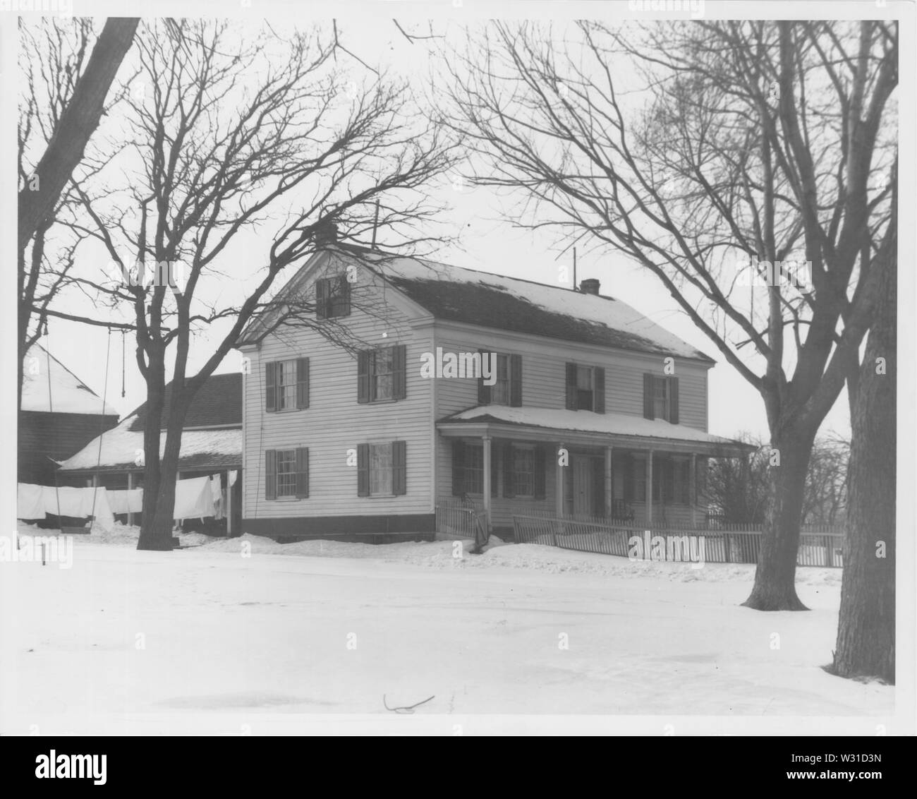 The Philander Prescott House, a now-demolished house on Minneapolis formerly on the NRHP. - Stock Image