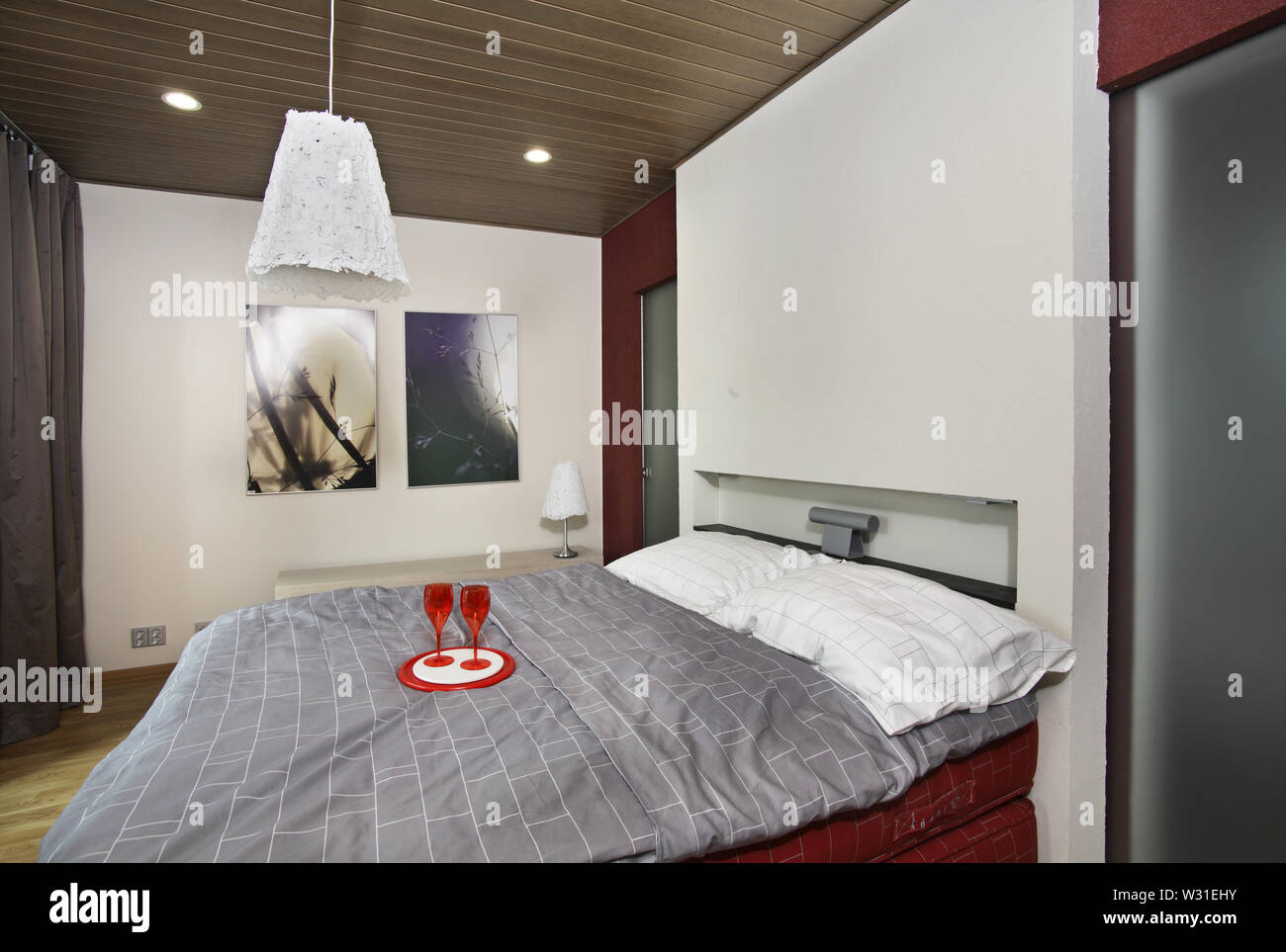 House 18 at exhibition Asuntomessut 2012 in Tampere. Finland - Stock Image