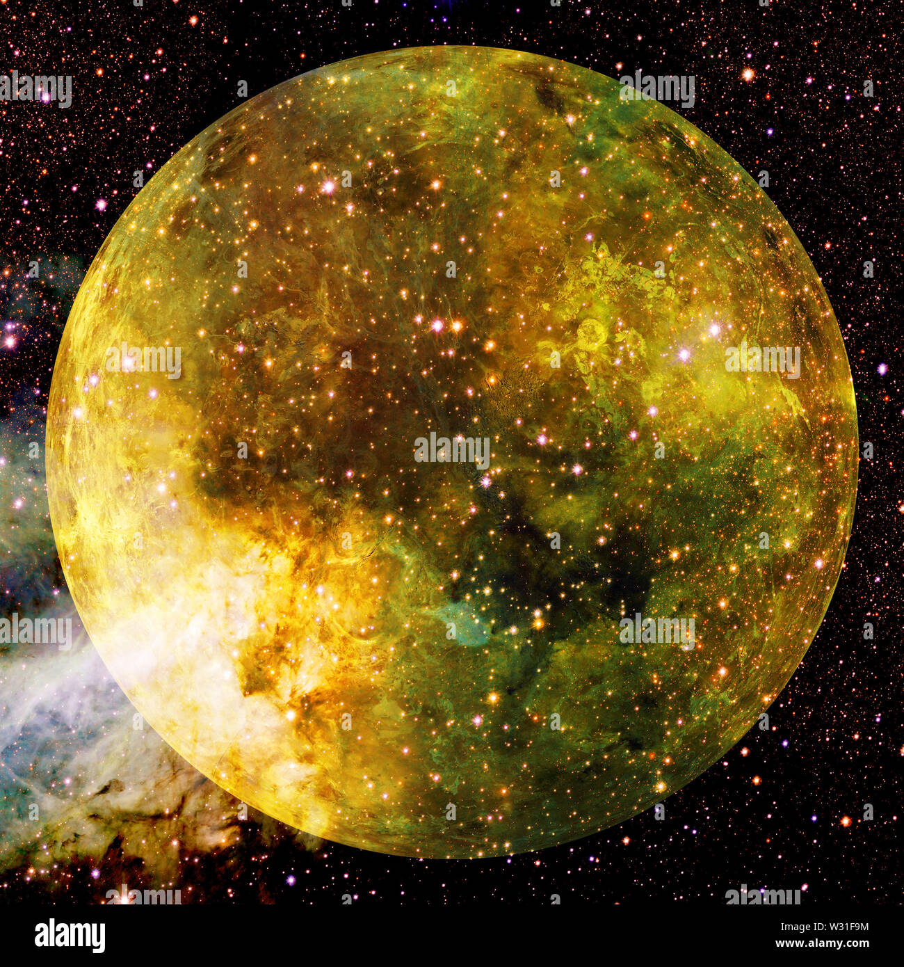 Planet Venus. Cosmos art. Elements of this image furnished by NASA. - Stock Image