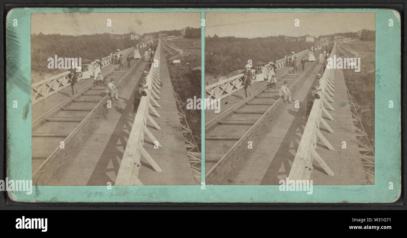 Portage Bridge, top of, looking toward Station, by H Besancon - Stock Image