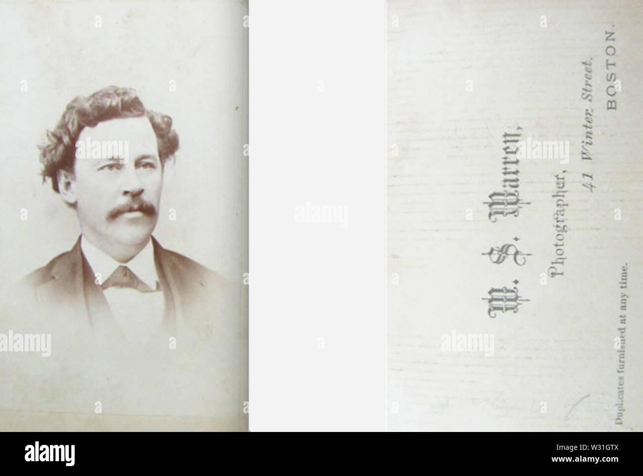 Portrait of man by W S Warren of 41 Winter Street in Boston - Stock Image
