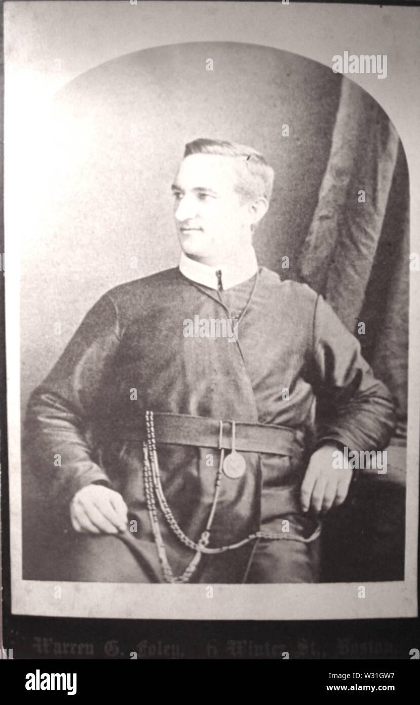 Portrait of man by Warren G Foley of 6 Winter Street in Boston - Stock Image