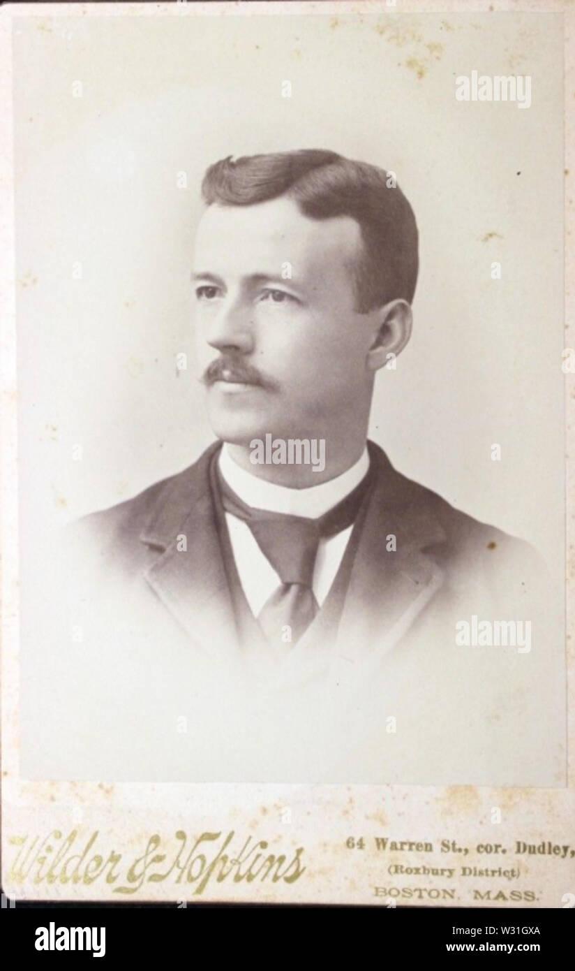 Portrait of man by Wilder and Hopkins of 64 Warren Street in Boston - Stock Image