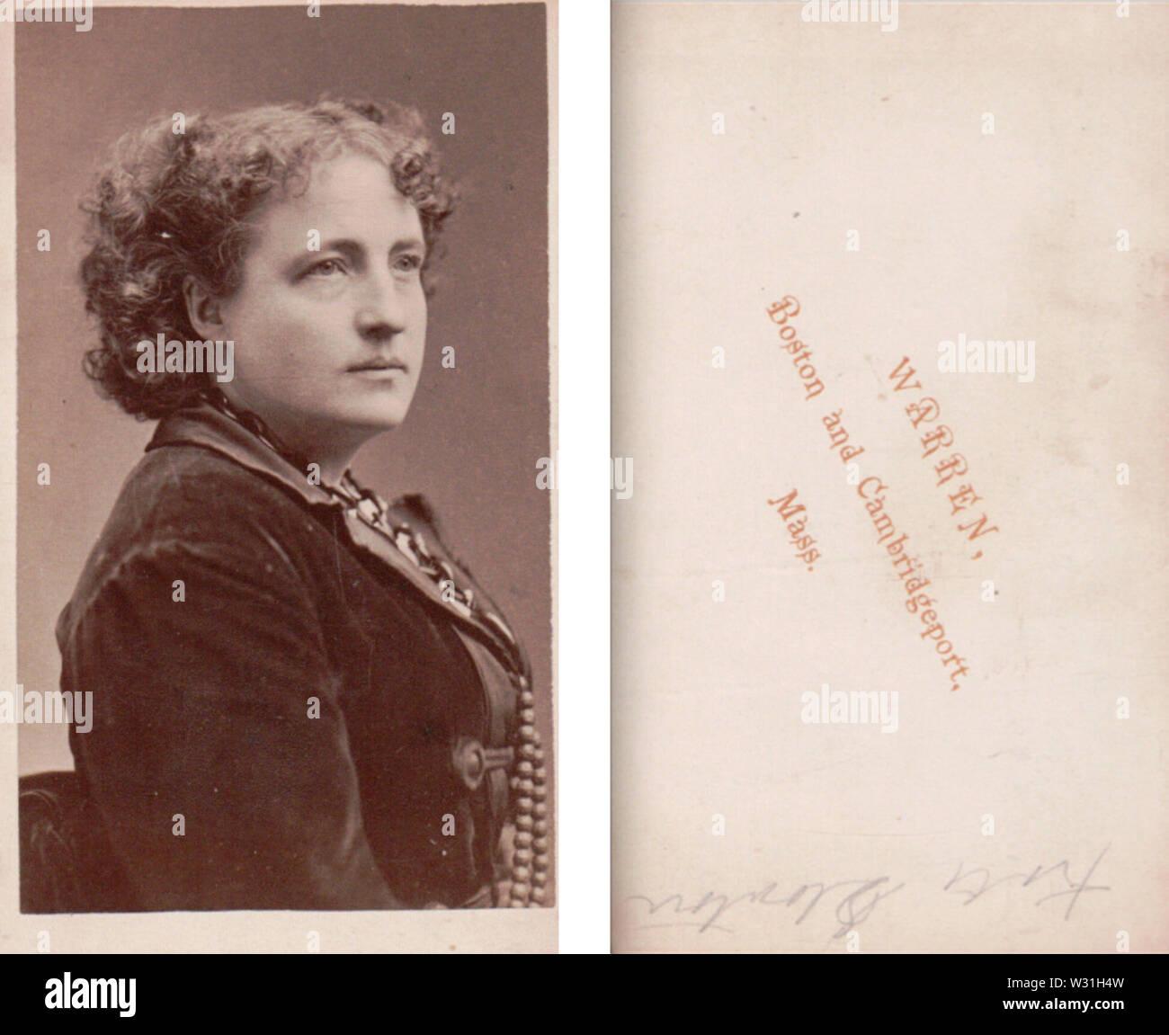 Portrait of woman by Warren of Boston - Stock Image