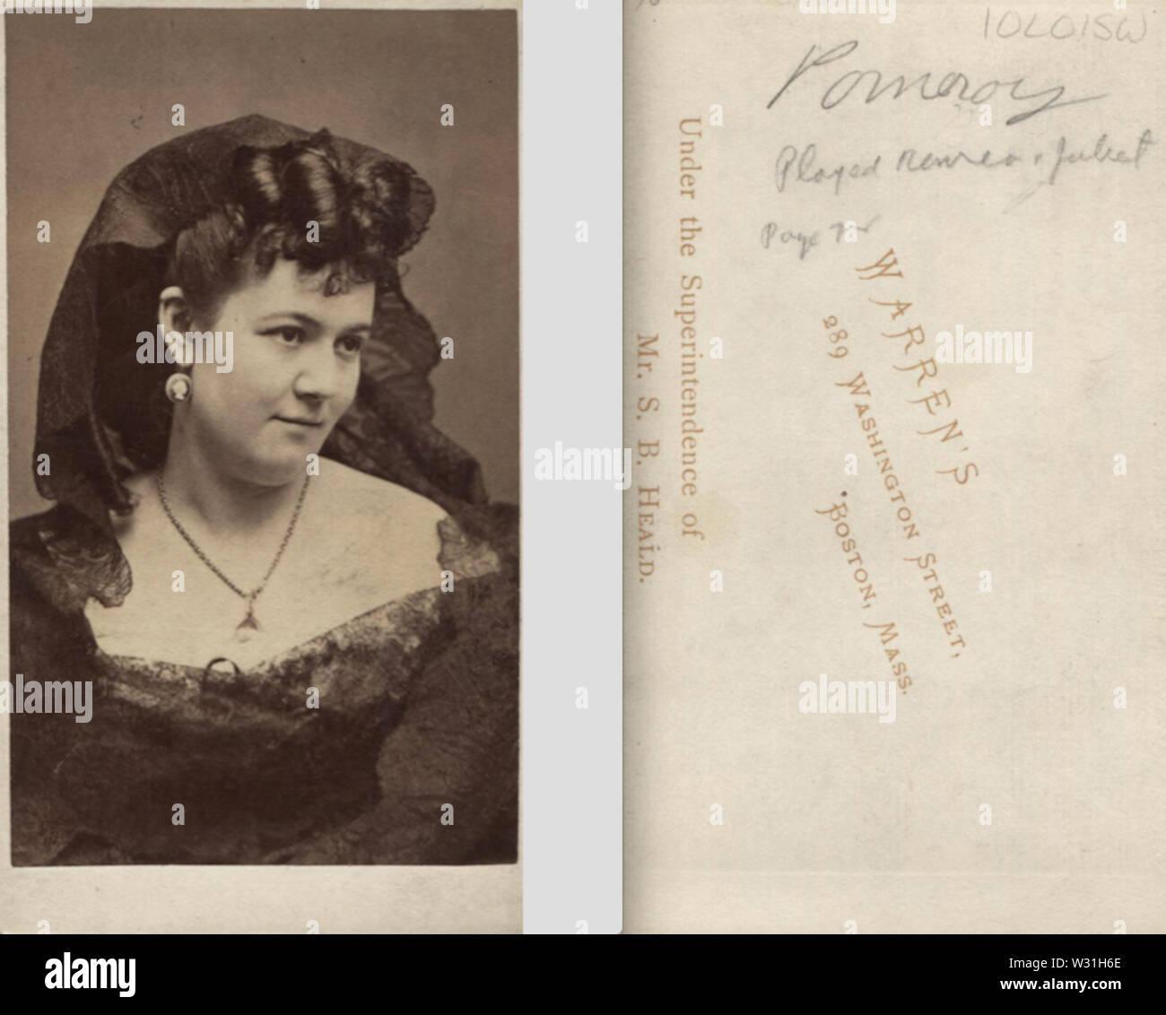 Portrait of woman in lace by Warren of Boston - Stock Image