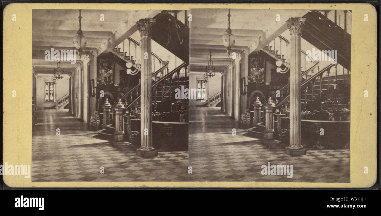 Powers' Building Interior Grand Staircase, by Woodward, C W (Charles Warren) 2 - Stock Image