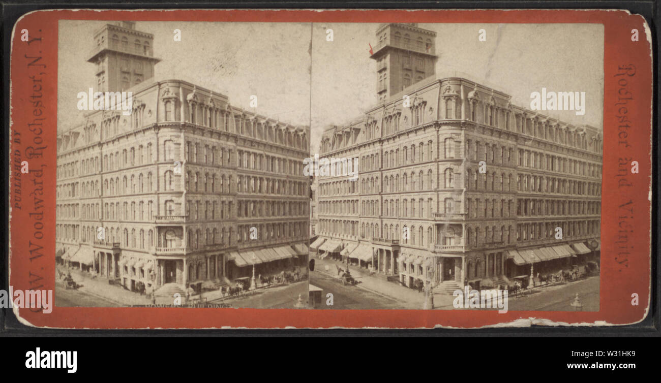 Powers' Building, by Woodward, C W (Charles Warren) - Stock Image