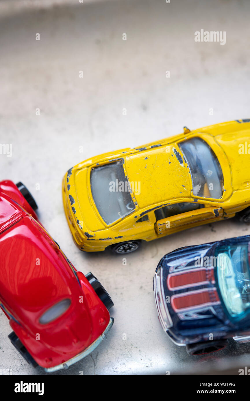 Collection of toy cars Stock Photo