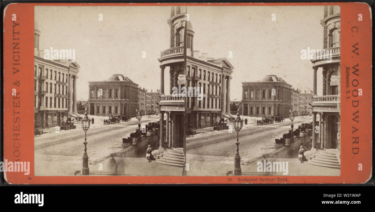 Rochester Savings Bank, by Woodward, C W (Charles Warren) - Stock Image