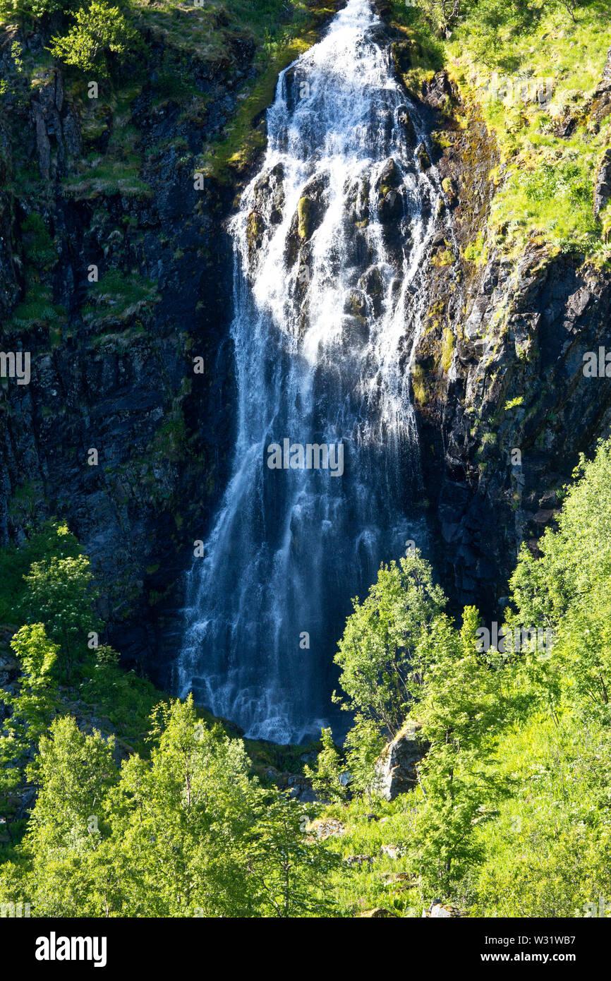 Trollfjord, Austvågøy island, Nordlandet, Lofoten, Norway - Stock Image