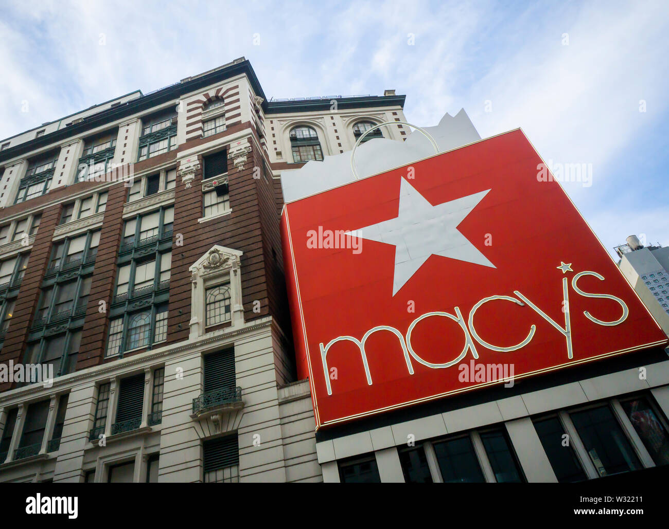 The Macy's Herald Square flagship store in New York on Tuesday, July 2, 2019. (© Richard B. Levine) - Stock Image