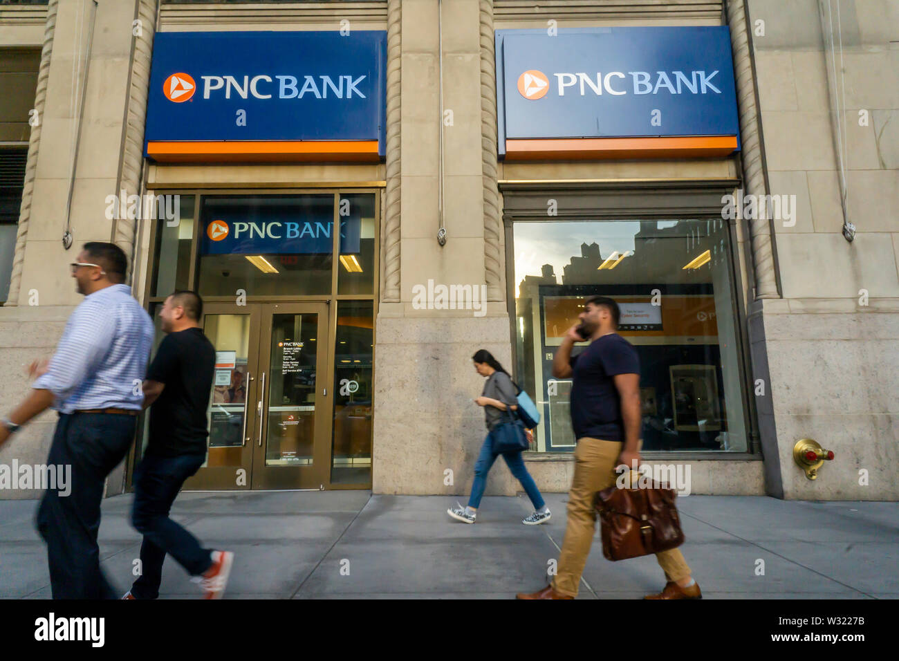 A branch of PNC Bank in New York on Tuesday, July 2, 2019. (© Richard B. Levine) - Stock Image