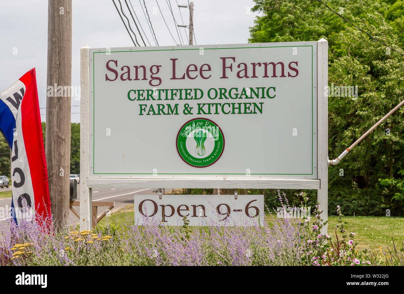 Sang Lee Farms, North Fork, Eastern Long Island, NY Stock Photo
