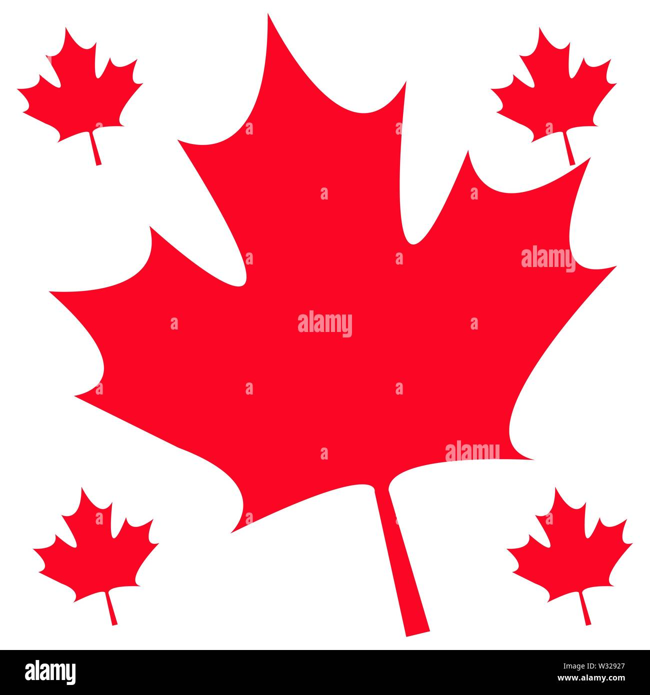 Pattern Of Leafs Maple Canada Vector Illustration Design Stock Vector Image Art Alamy
