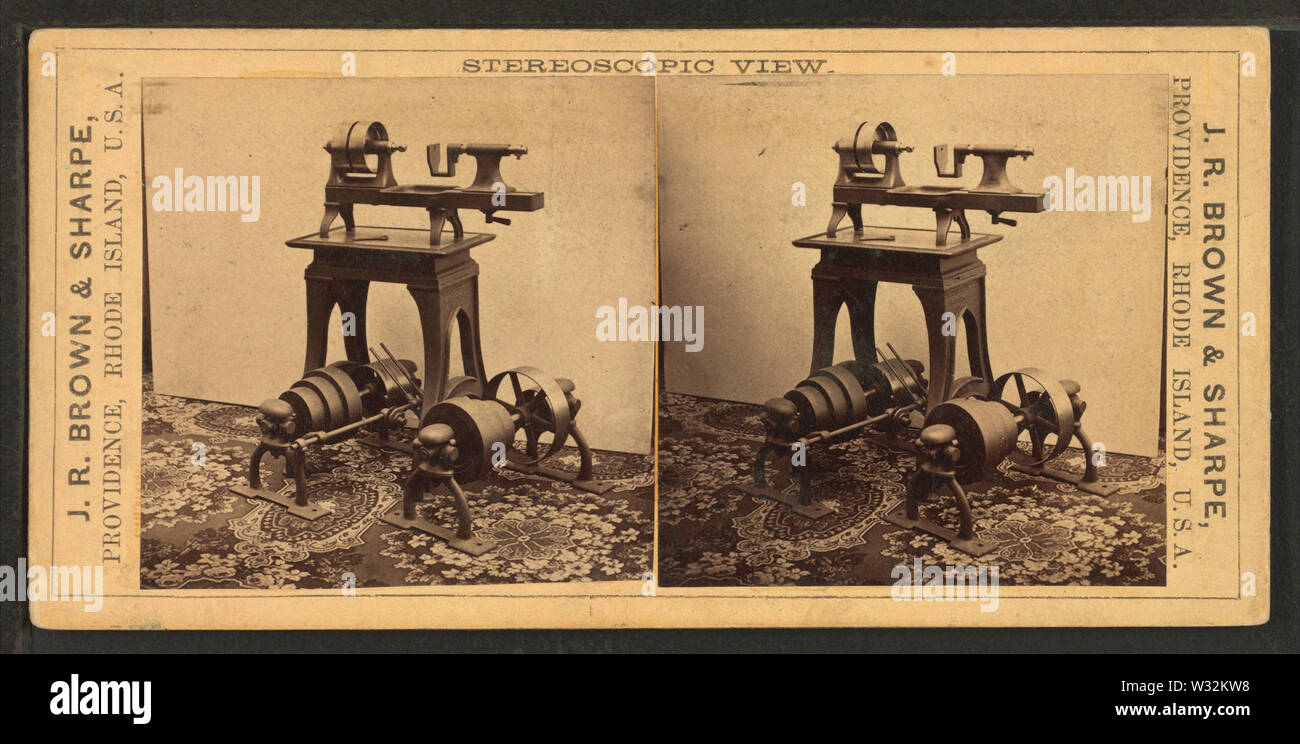 Tapping Machine, for Manufacturers of Fire-Arms, Sewing Machines, etc, from Robert N Dennis collection of stereoscopic views - Stock Image