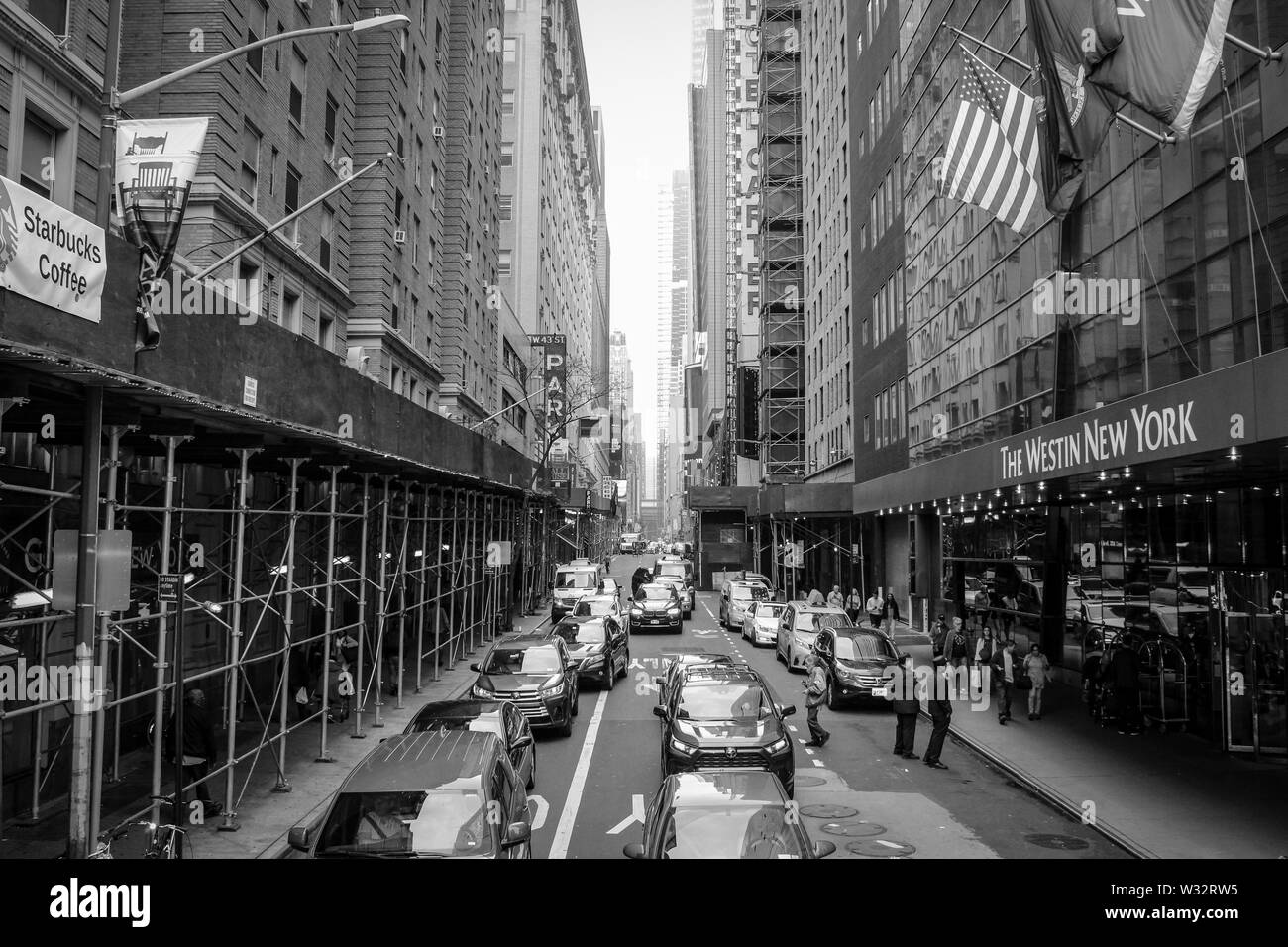 Busy Day in New York - Stock Image