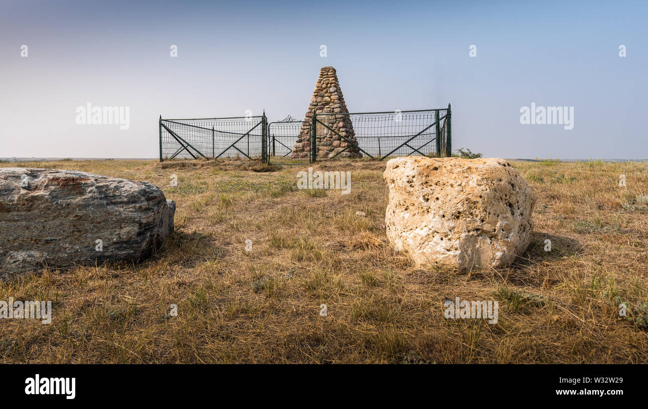 Treaty Seven Monument on the Siksika Nation - Stock Image