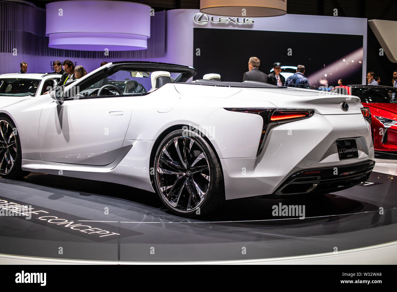 Geneva, Switzerland, March 2019 Lexus LC Convertible Concept Prototype Car, Geneva International Motor Show, produced by Japanese car maker Lexus Stock Photo