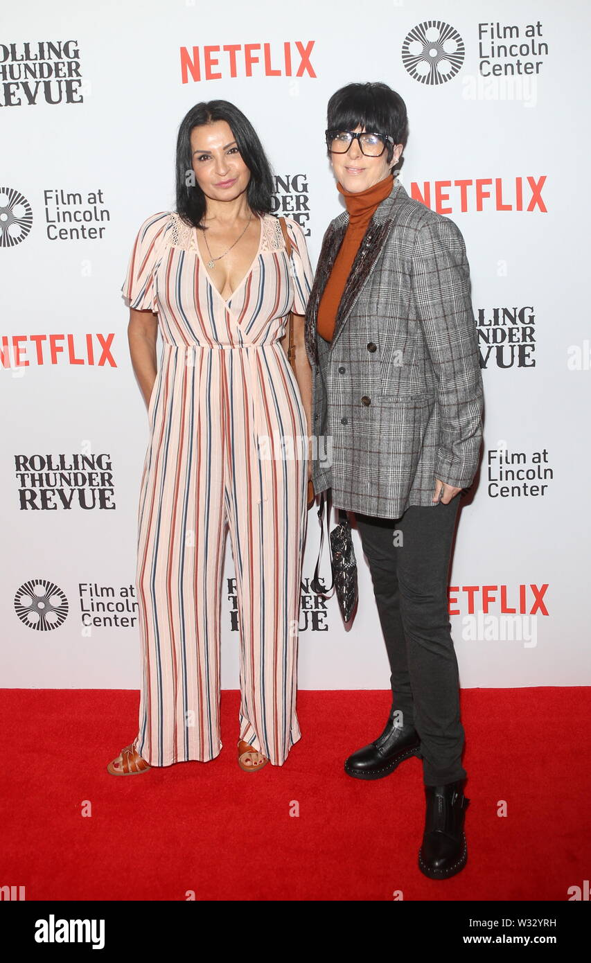 Netflix New York Special Screening of Rolling Thunder Revue: A Bob Dylan Story Held at Alice Tully Hall Featuring: Kathrine Narducci Diane Warren Where: New York, New York, United States When: 11 Jun 2019 Credit: Derrick Salters/WENN.com - Stock Image
