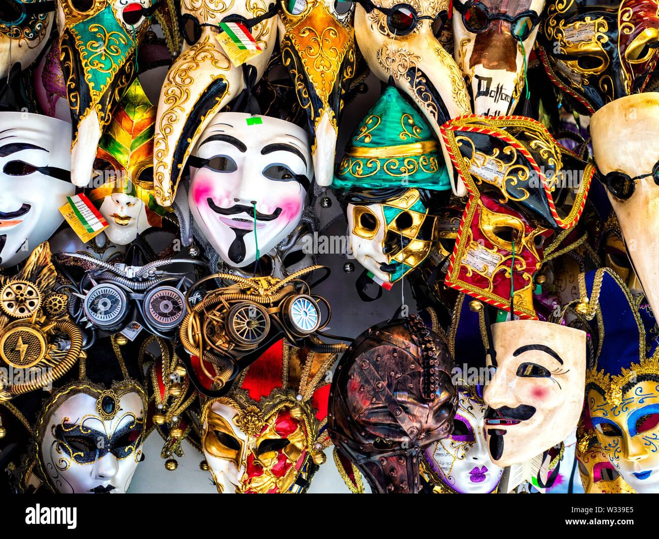 Carnival Masks in Venice, Italy - Stock Image