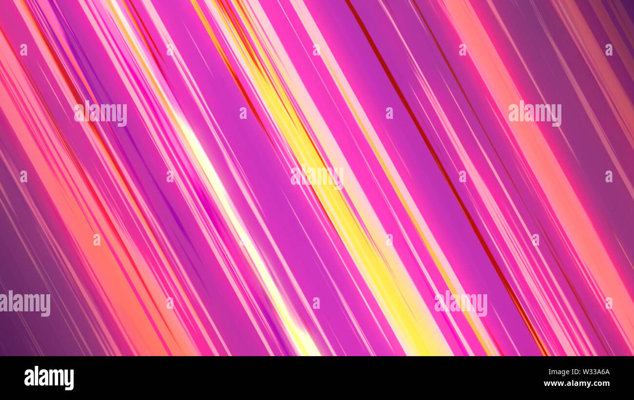 Comic colored speed line action inspired by japanese Anime 3d illustration. - Stock Image