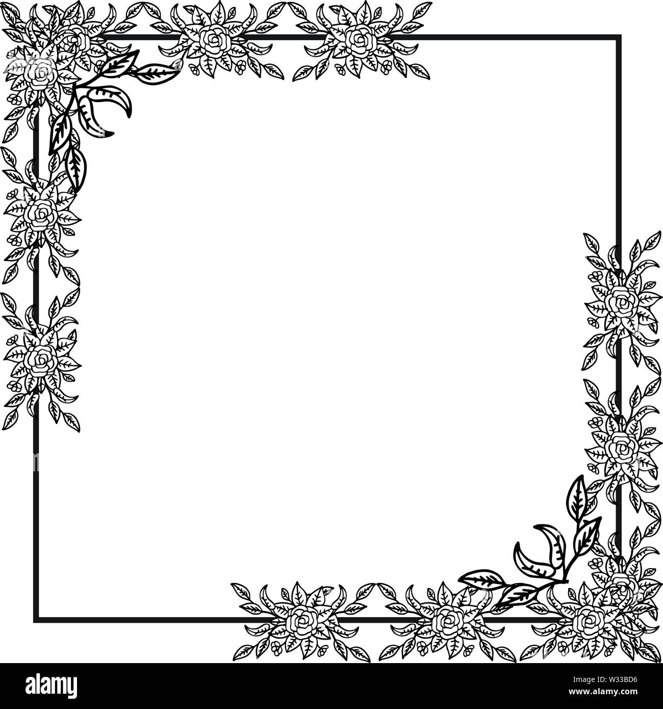 Vintage Unique Pattern Floral Wallpaper Wedding Invitation