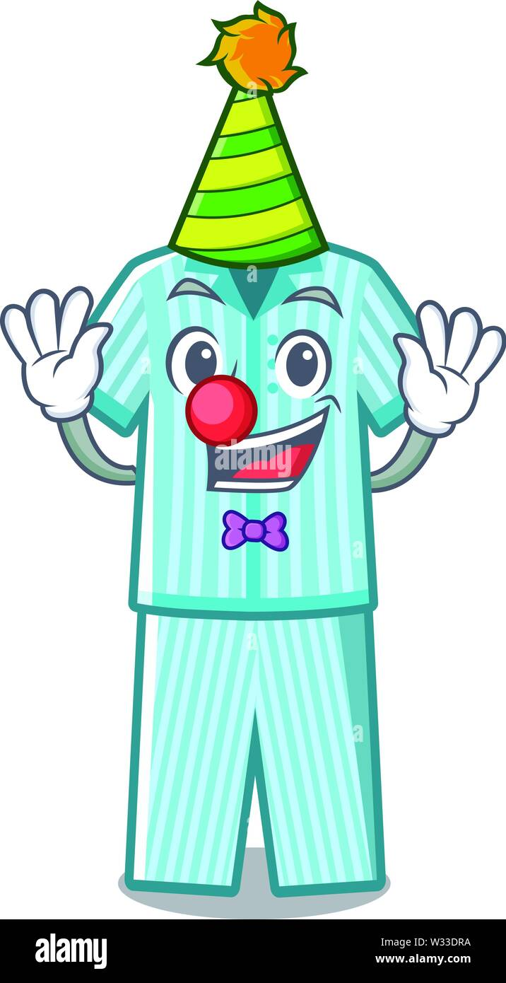 Clown Folded Pajamas In A Cartoon Closet Stock Vector Image Art Alamy